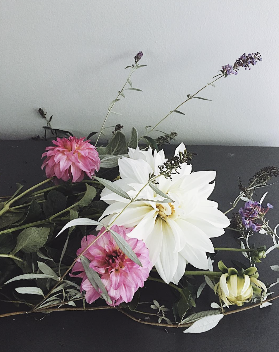 Any kind of flower and branch can be used in a bouquet! -
