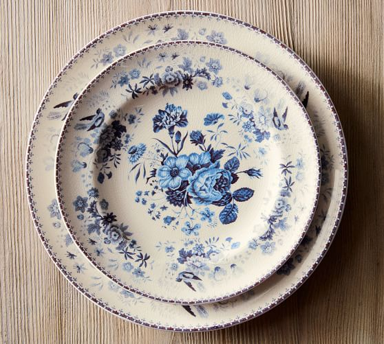 Vintage blue Plates Have Year Round appeal!