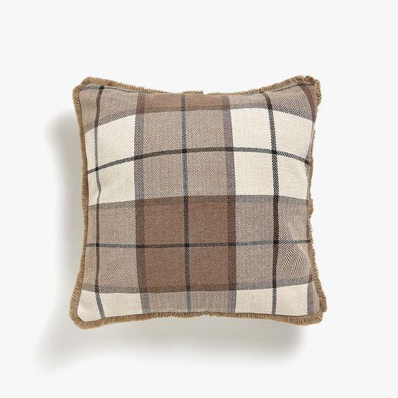 Plaid Fall Pillow