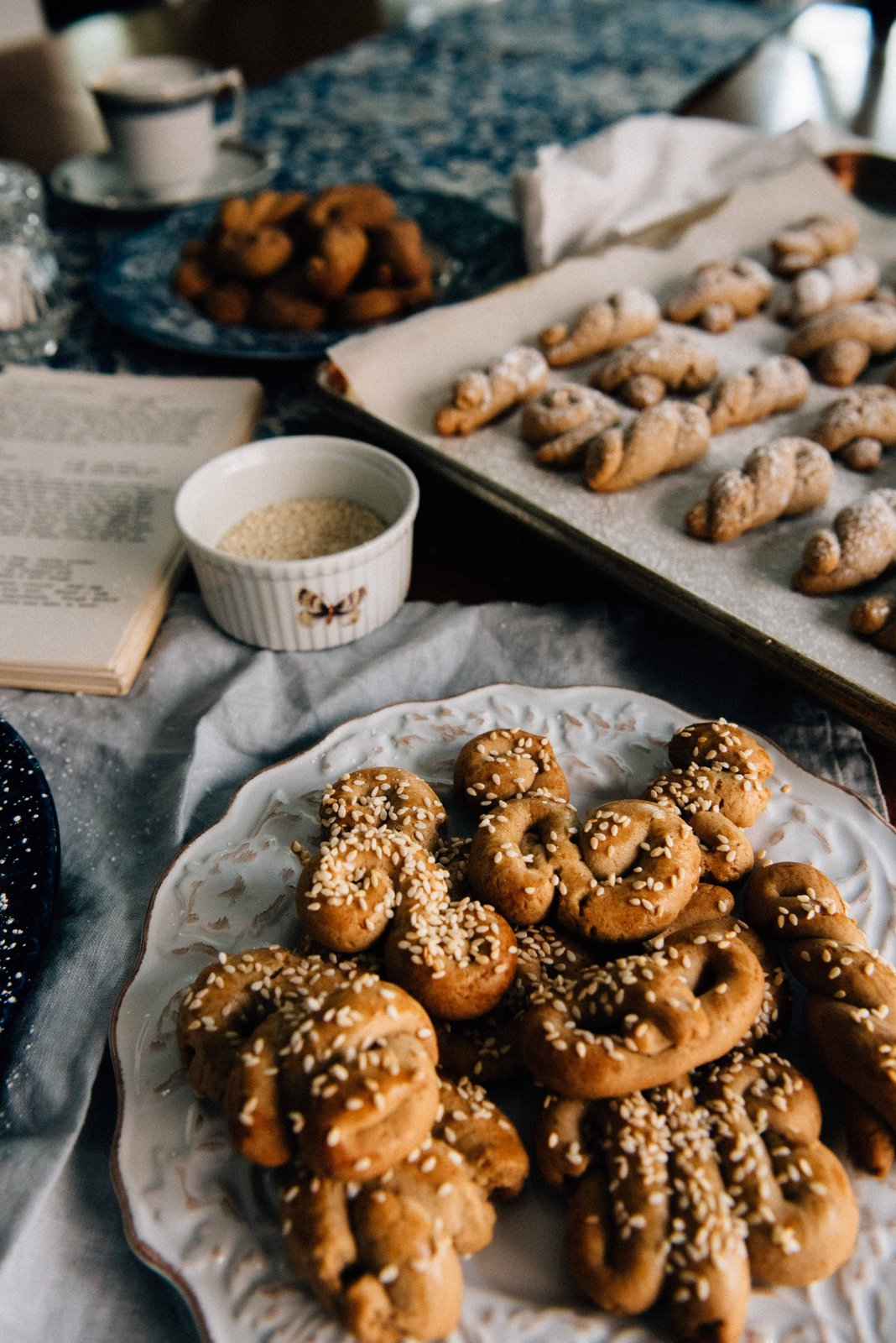 A classic favorite - Greek Sesame Cookies with some untraditional twists!