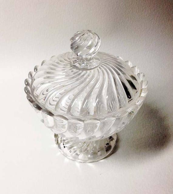 Vintage Crystal Sugar Bowl