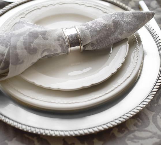White scallop plate