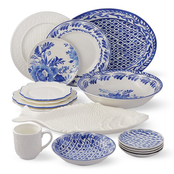 Blue dinnerware