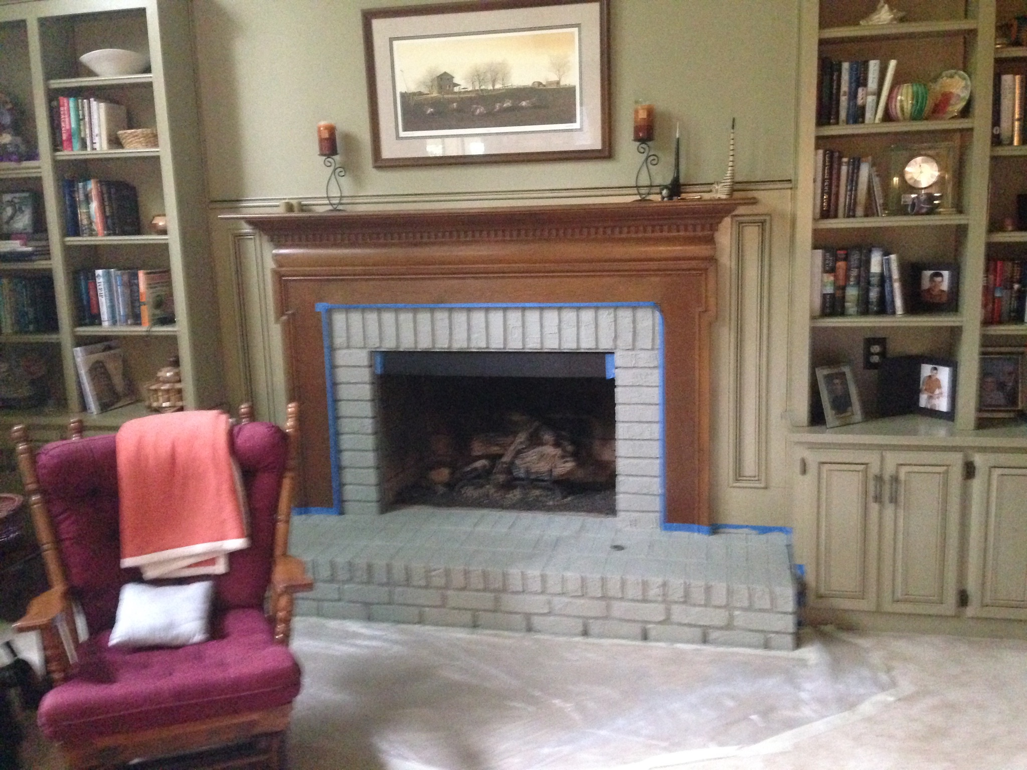 We had a fail with the original fireplace paint color! - So we asked you which you would choose!