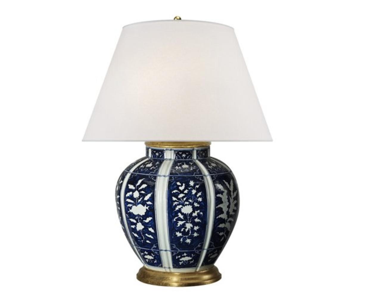 Blue Floral Lamp
