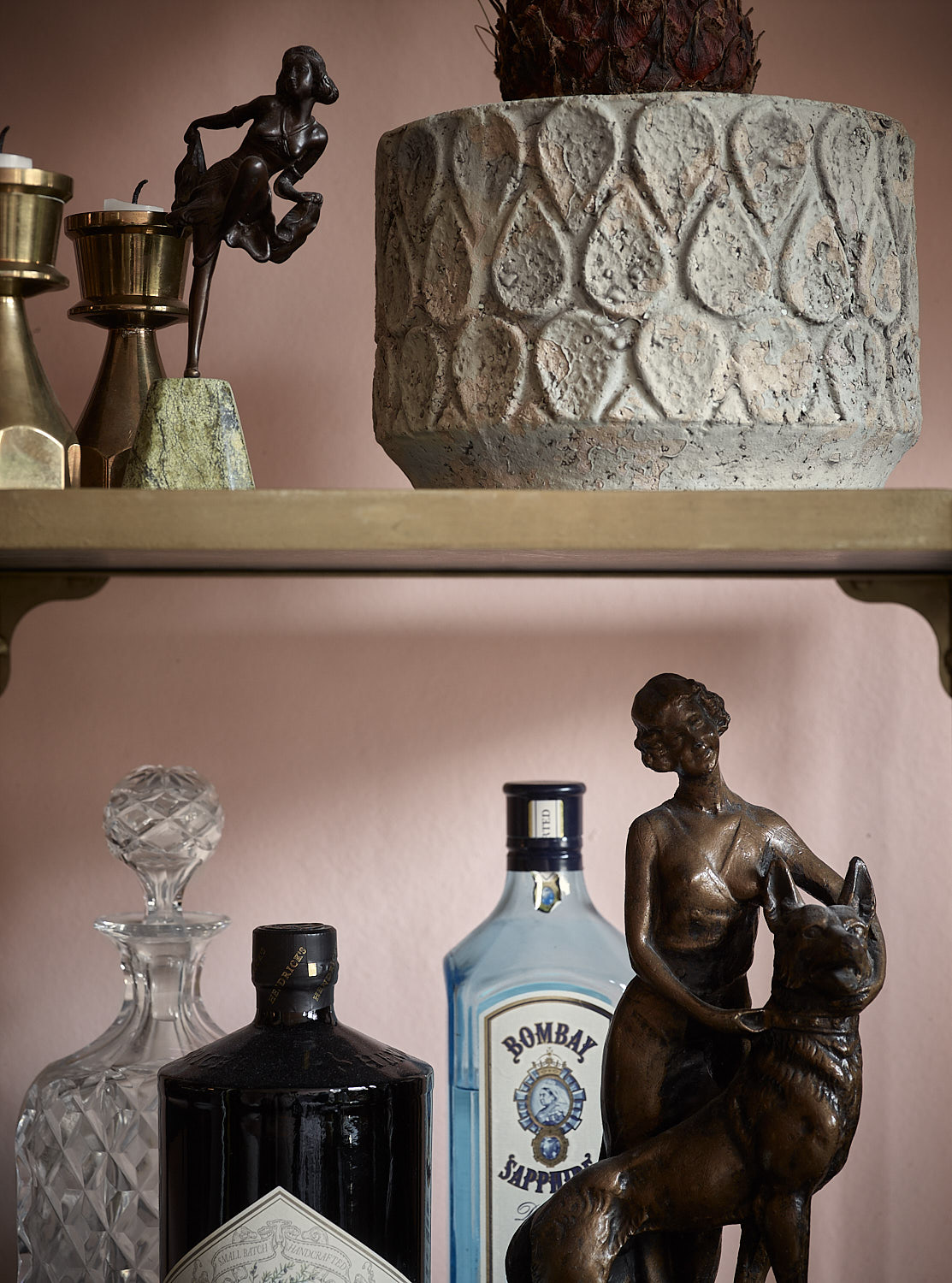 6. Mix It Up.  Family Heirlooms on the Bar Cart?  Yes!