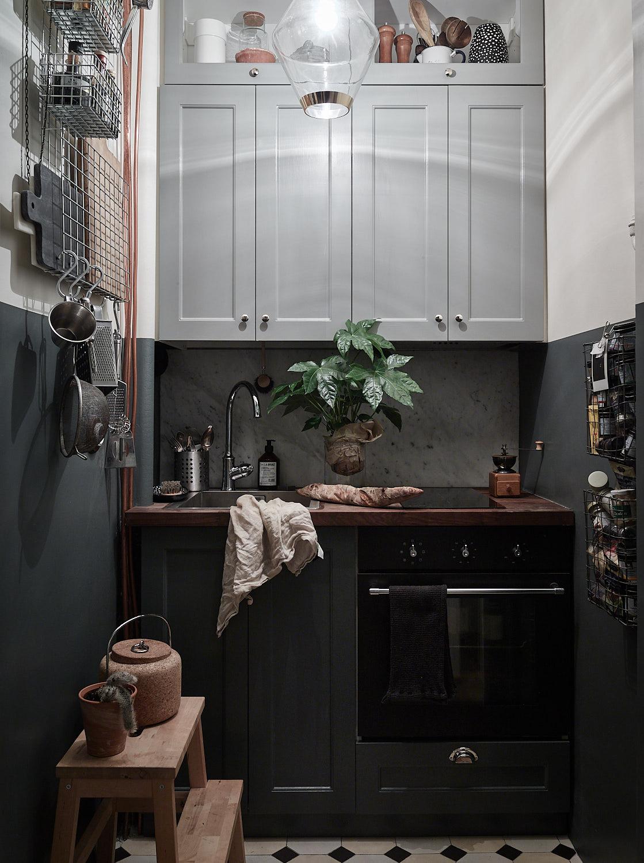 Bonus:: Metal Shelves + A Magazine Holder: Industrial & Industrious in the Kitchen