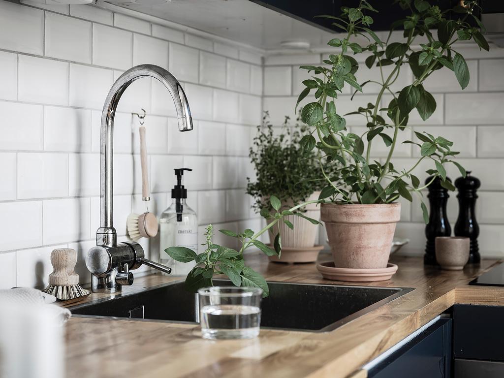 Navy Blue Kitchen Scandinavian Home