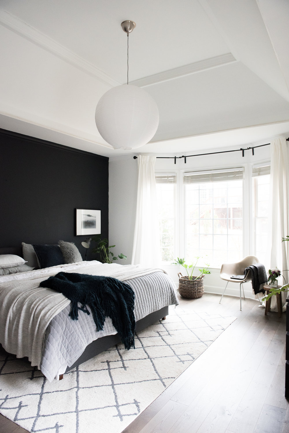 I WENT FOR IT Dramatic Modern Cozy Master Bedroom Makeover ...
