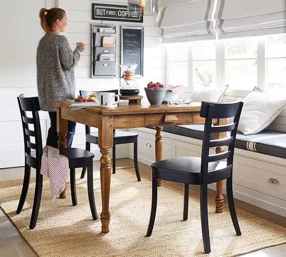 Rustic Table + Black