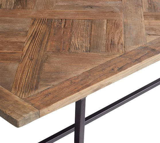 Rustic Parquet Table