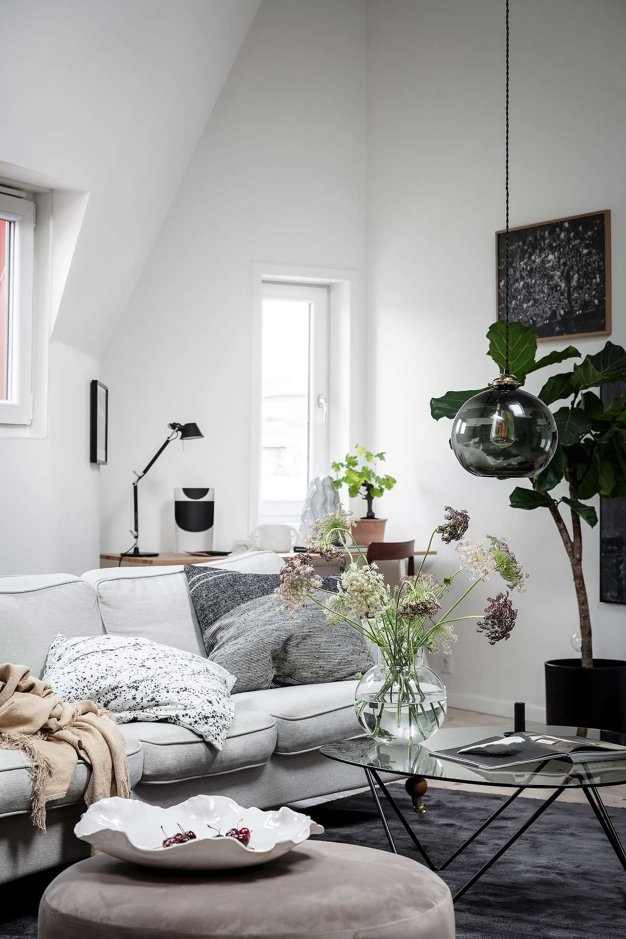 Add Comfy Pillows + a Throw to Make it Cozy