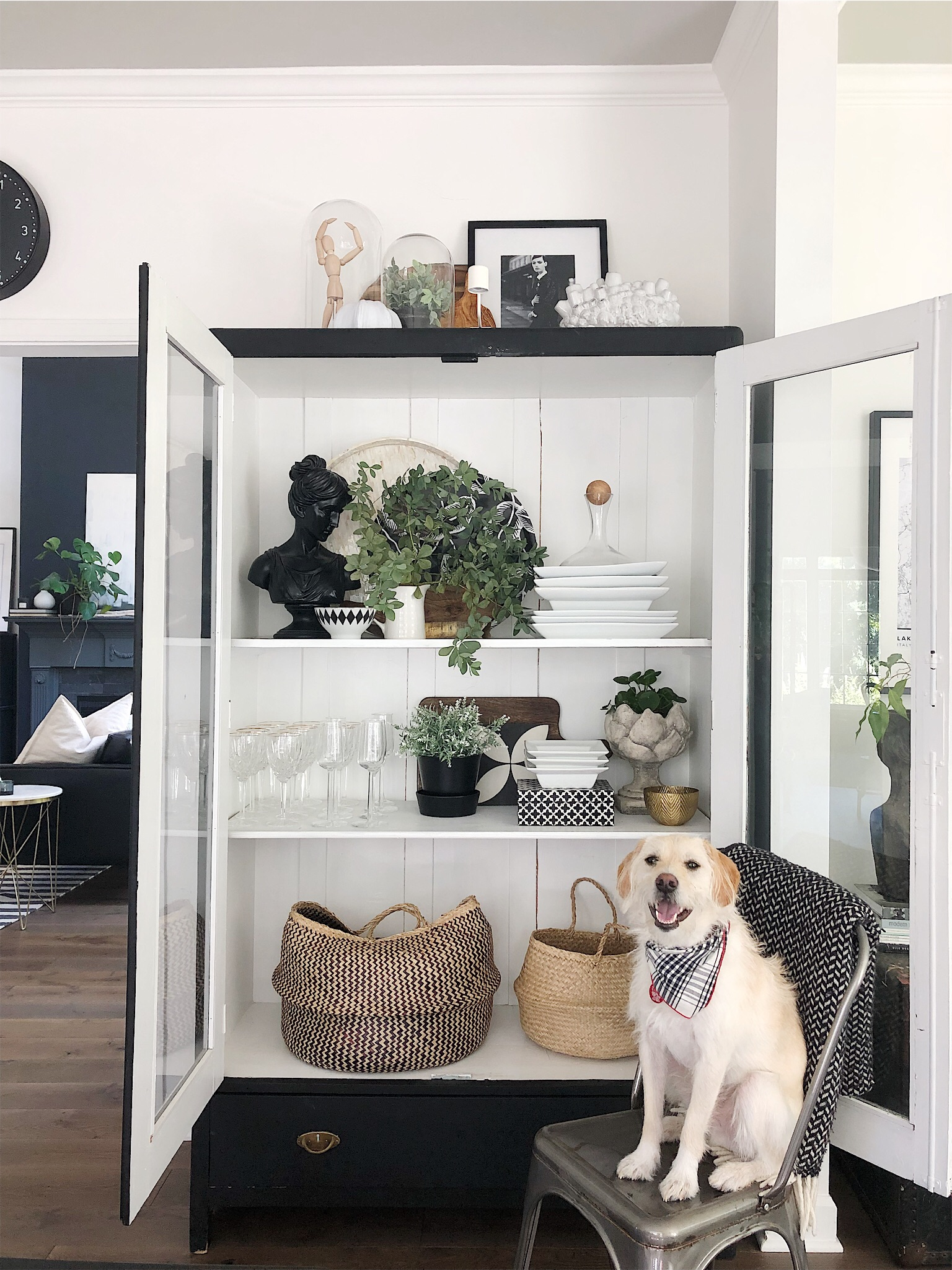 Your Shelves & China Cabinet - Tips for Styling them!