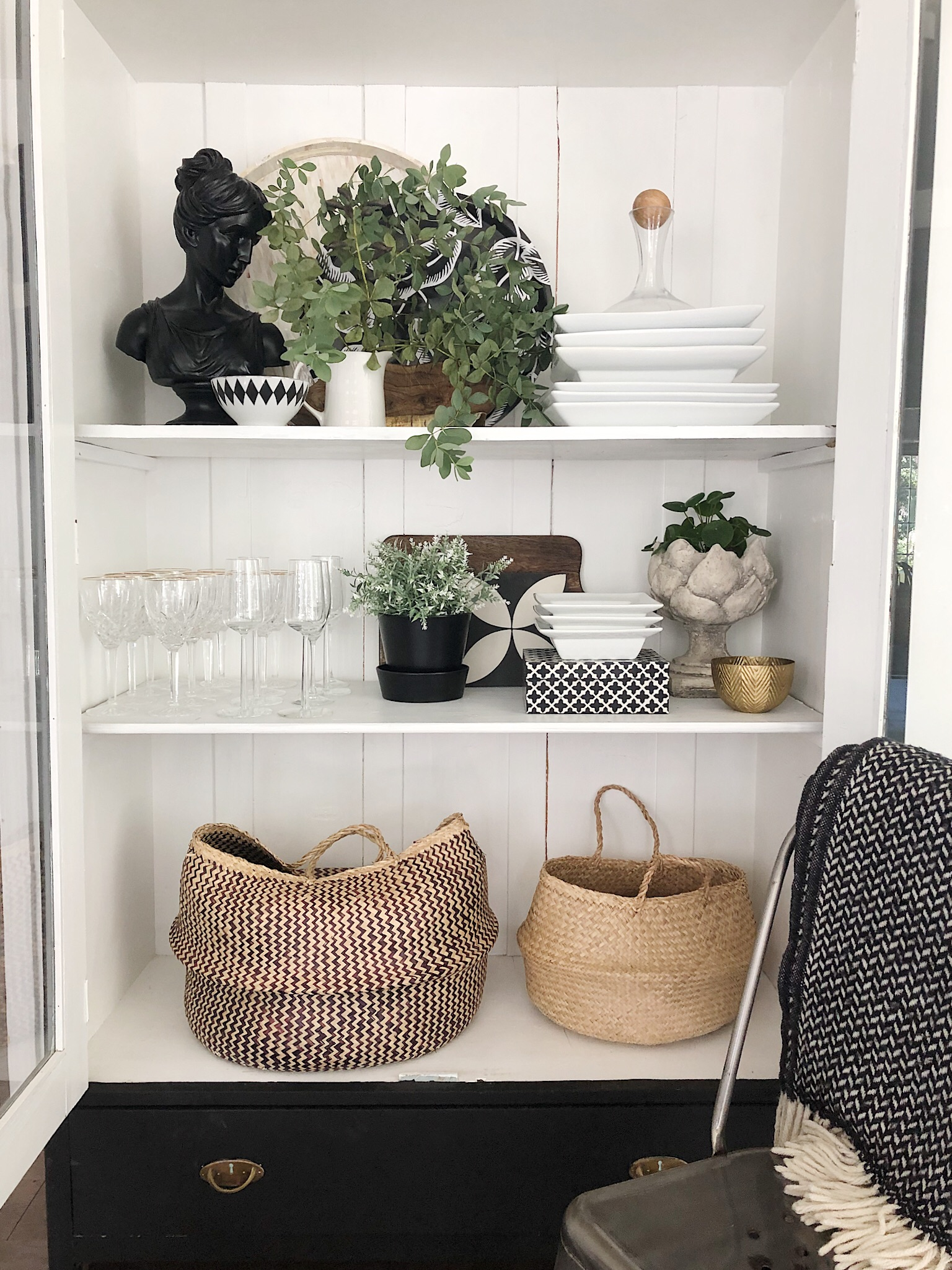 YOUR SHELVES &  CHINA CABINET : How to style Them! | House of Valentina
