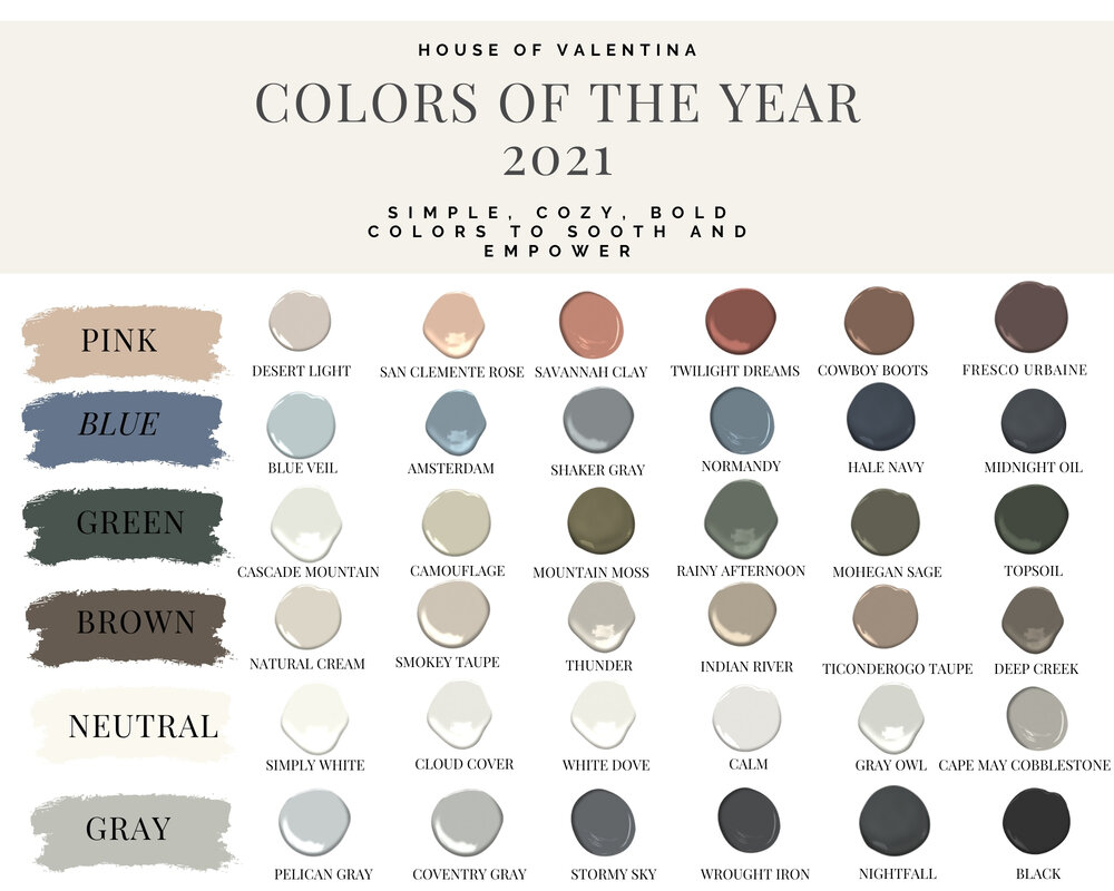 Our Top Paint Colors for 10 + FREE PDF — House of Valentina