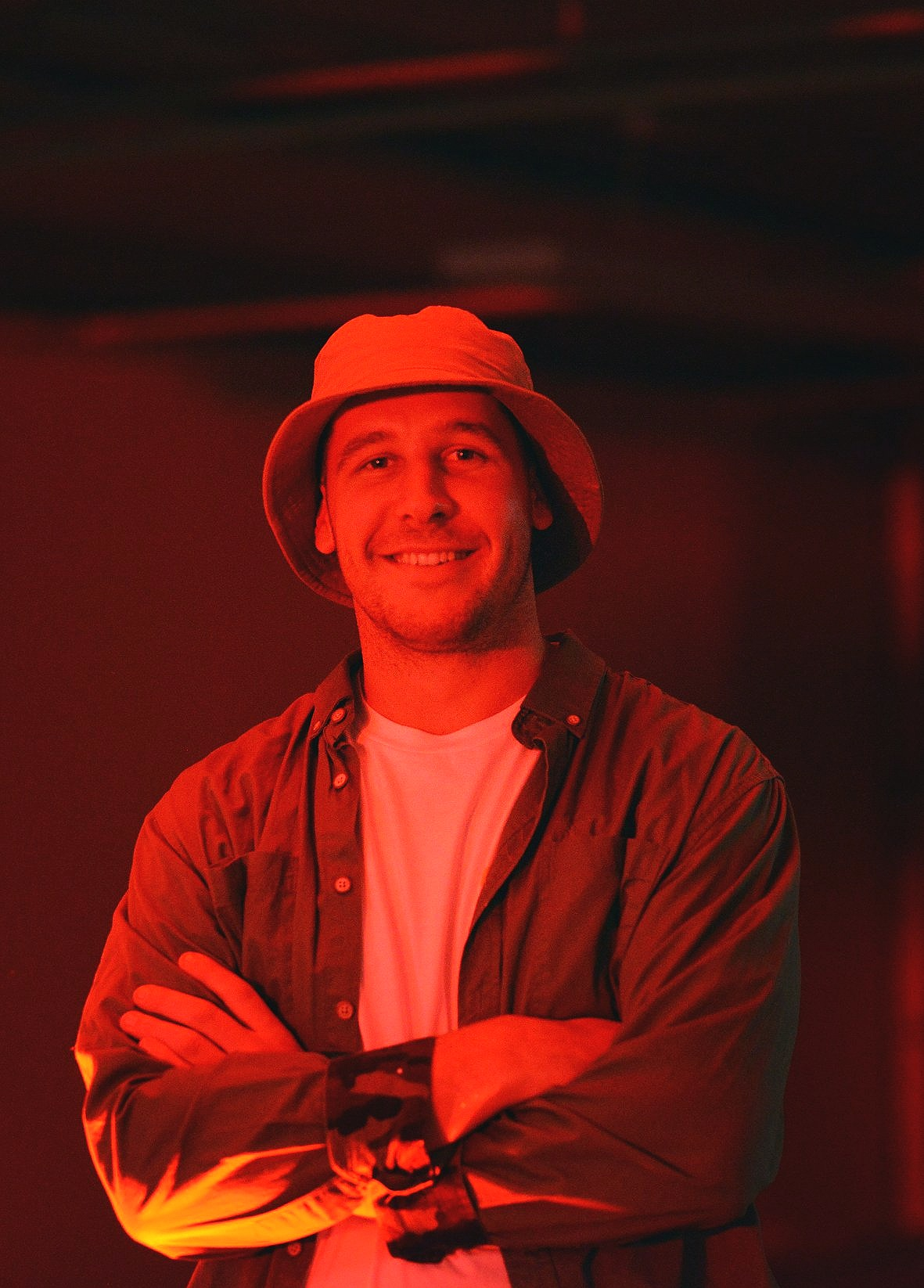 Jonathan at the 'Ōtepoti Hip-Hop Hustle' event for Dunedin Fringe Festival 2019