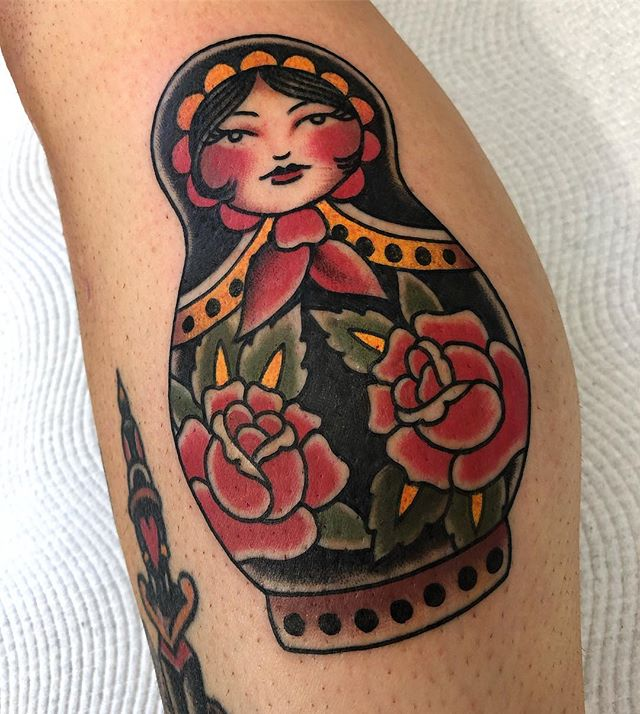 Matryoshka doll - Thanks Kelly! Done @twohandstattoo