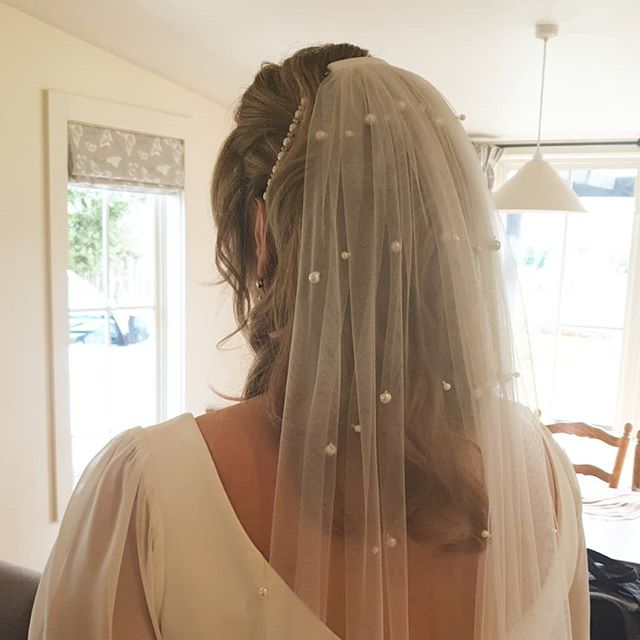 Glamour Curls and Pearls for our First bride of the season our Gorgeous Bride Michelle. #hairthereandanywhere #weddingwork #wellingtonweddings #hairandmakeupartists #mobileteam