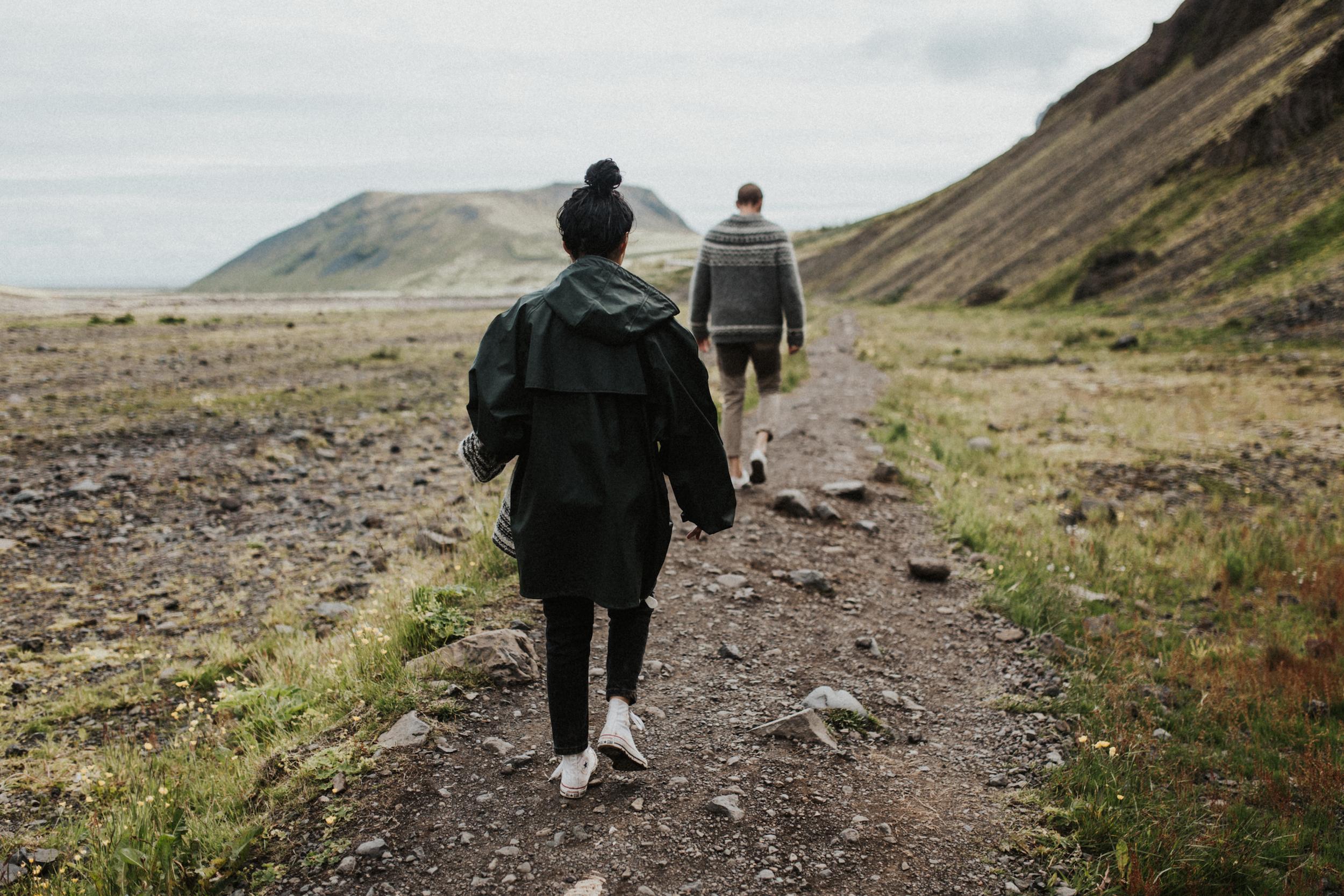 Walking away from Seljavallalaug hot springs in Iceland.jpg
