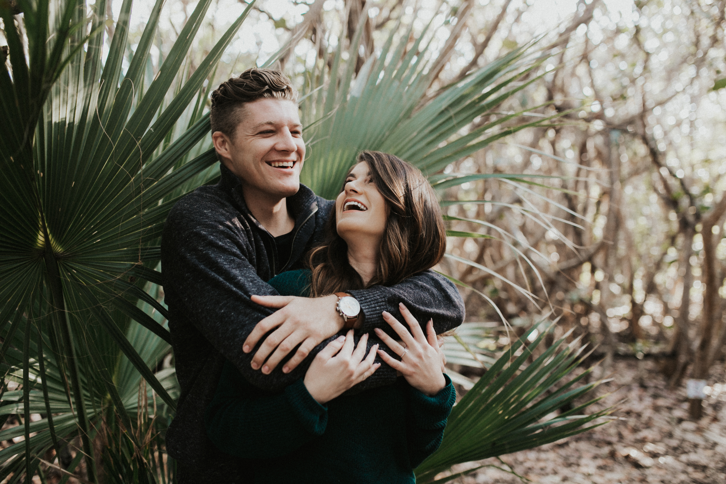 Engagement Photos south Florida couple laughing.jpg