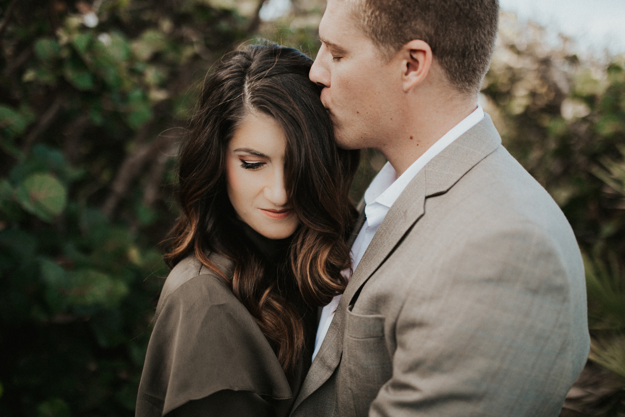 Romantic and intimate closeup in Jupiter Florida engagement session.jpg
