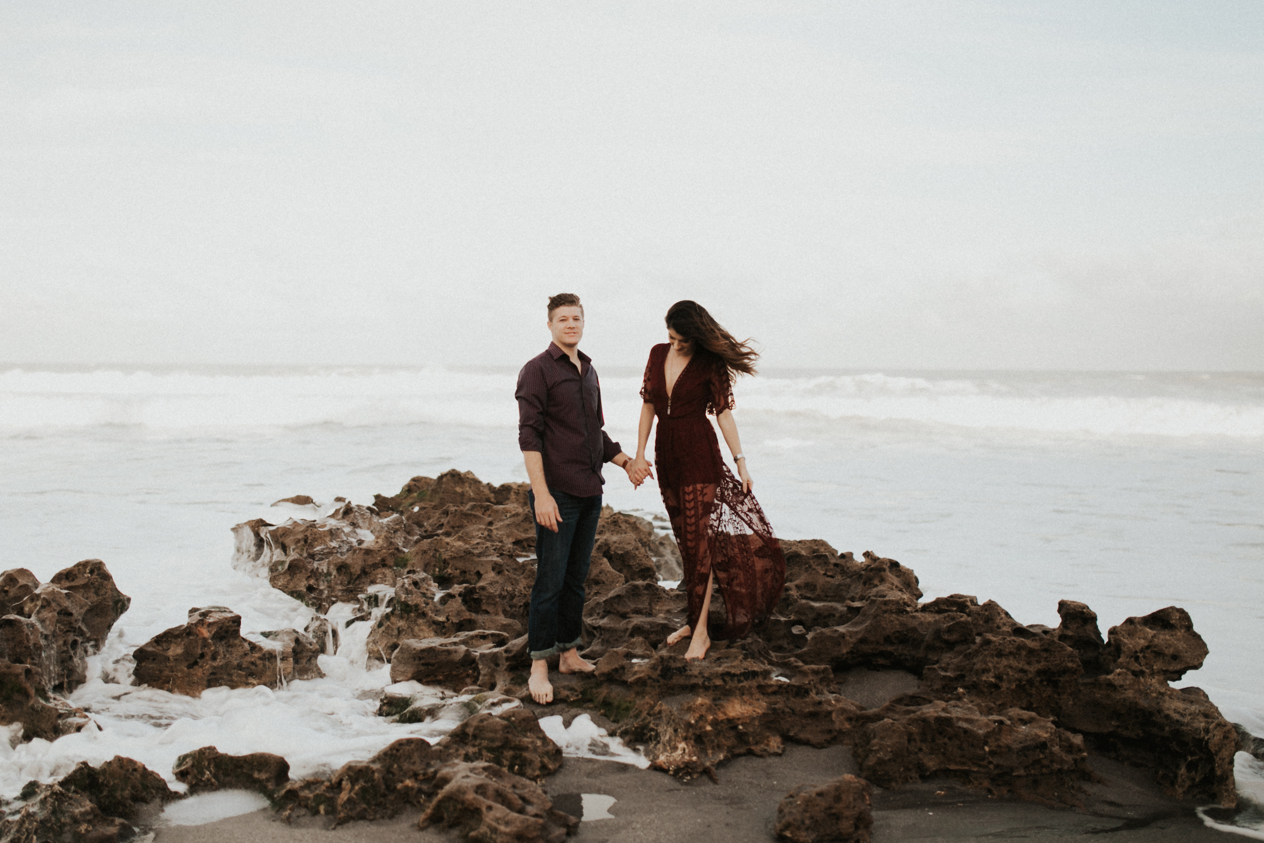 gorgeous engagement session at blowing rocks state park.jpg