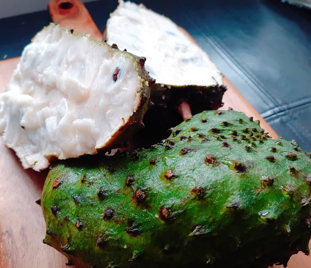 Soursop Graviola - is a delicious fruit with a creamy custard texture.