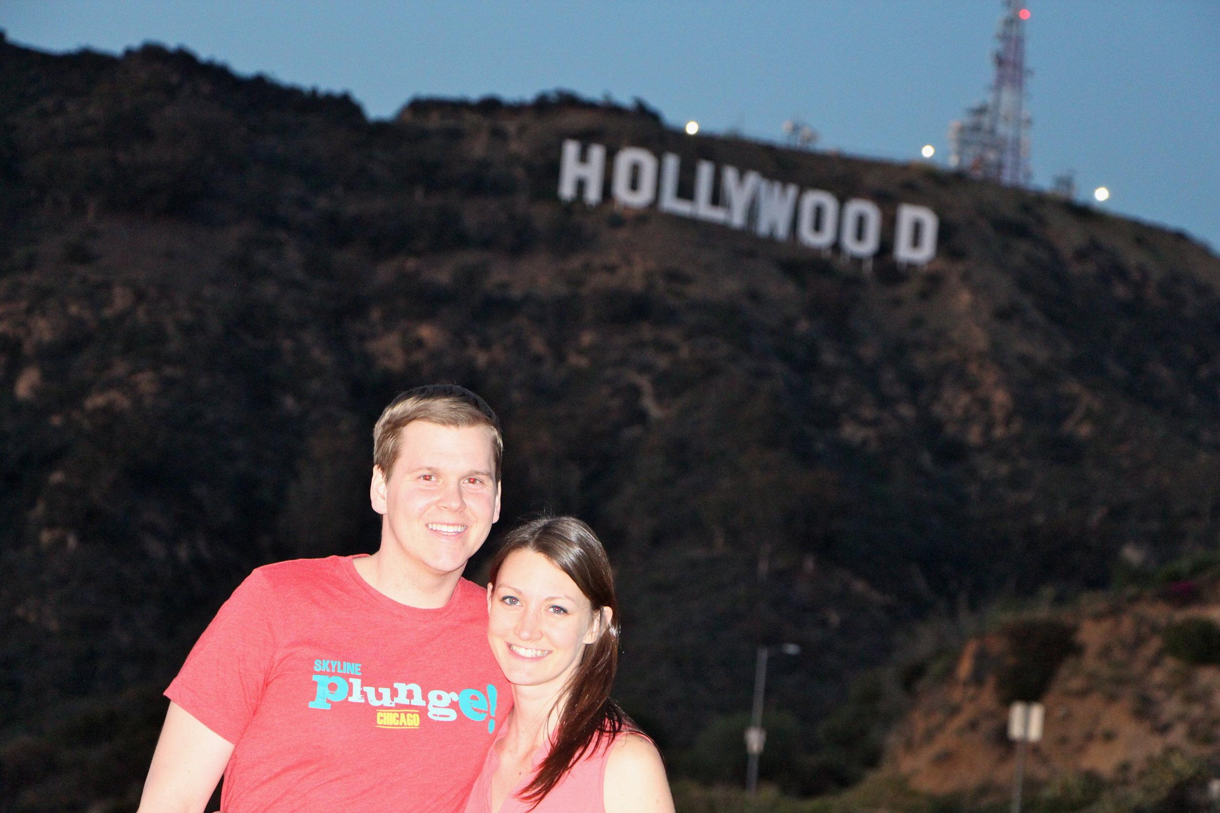 Marc and Lisa Hollywood Sign.JPG