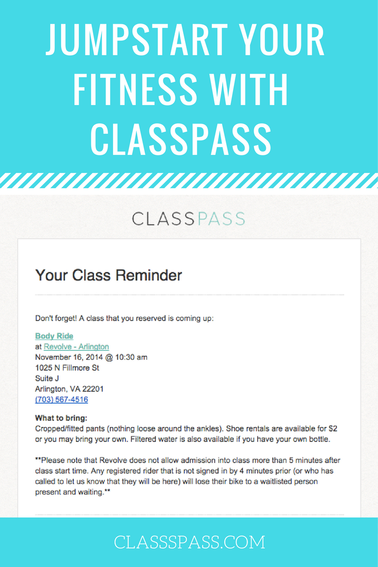 JUMPSTART YOUR FITNESS WITH CLASSPASS