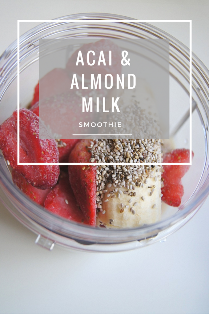 Acai & Almond Milk Smoothie