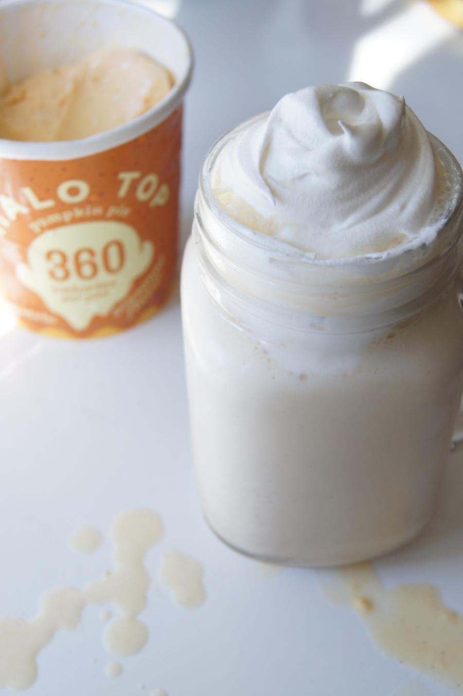 Pumpkin Spice Protein Milkshake 7