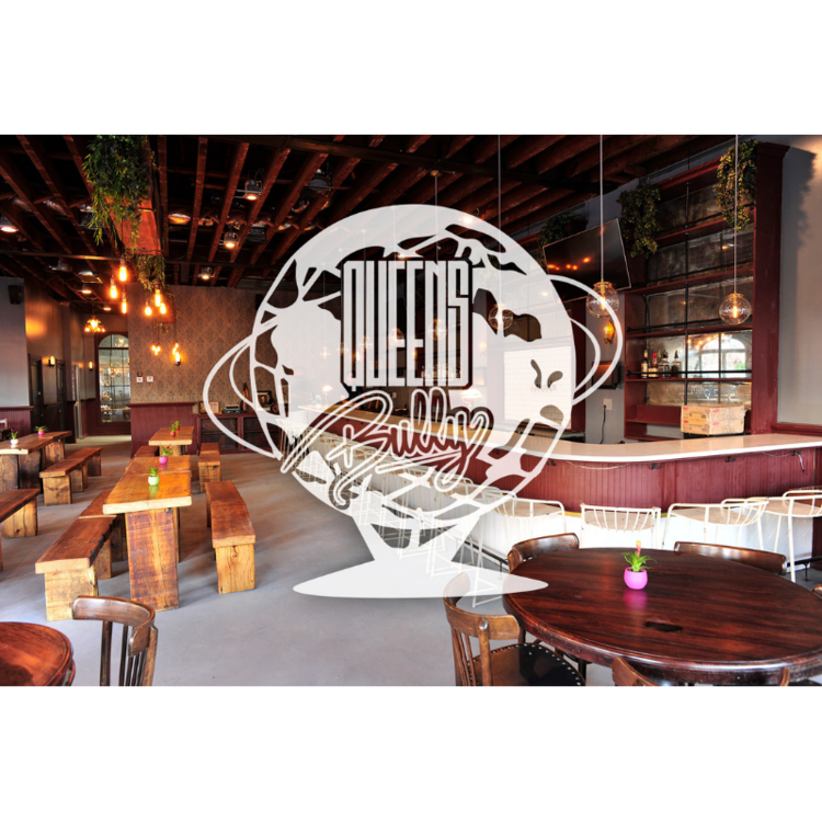 Queens Bully - Spacious hangout serving American BBQ, dishes with global flavors, served with craft cocktails and local craft beers. Queens Bully (short for Boulevard) was born out of this mutual love for their neighborhood, culture, and ethnicities.