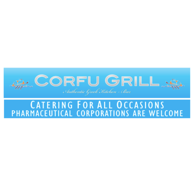Corfu Grill - Offers casual Greek dining in a sliver of Forest Hills. Nestled on the upper level of the popular shopping center on Austin Street, Corfu Grill welcomes couples, families and friends to their petite dining room furnished with charming antique lanterns, barrels, and lovely seaside paintings mounted on classic Grecian blue walls.