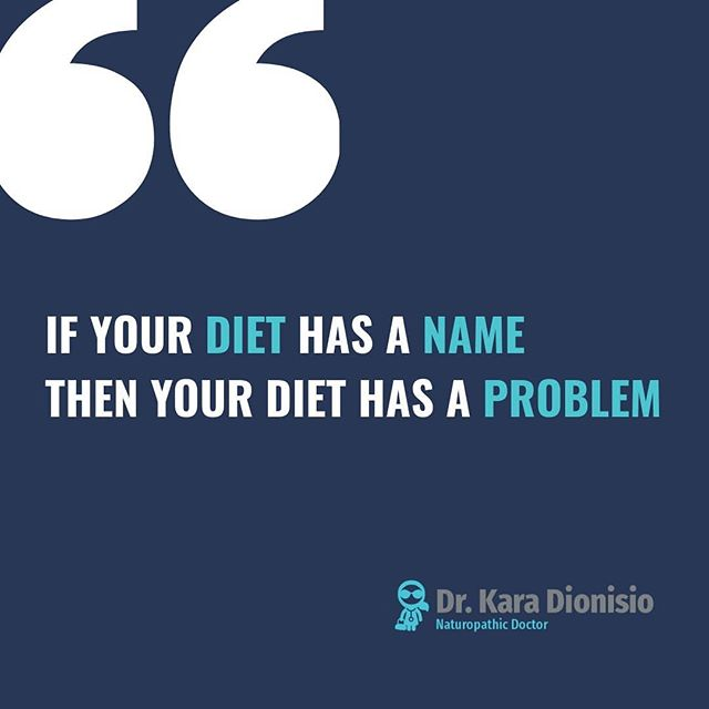 """I get asked everyday what I think about diet """"X"""" X= Ketogenic, Paleo, Vegan, Mediterranean, Gluten free, etc... 👇 This is my answer...   😀PROS ▫It could be the best diet for you right now. ▫It could be better than your previous diet. ▫It likely has some great strenghts. ▫It might be a plan, and you need a plan ▫It might serve as good momemtum and incentive for change. ▫It might actually be medicine"""" (e.g. Ketogenic Diet for epilepsy or brain cancer (the ONLY times I prescribe a KETO diet!)) Awesome!   😒BUT If your diet has a name it 100% has pitfalls: ▫Nutrient deficiencies ▫Side effects ▫Contraindications ▫Possible short term benefit with long term consequences and health risks ▫It may be great for your friend and a VERY BAD idea for you. ▫It likely isn't sustainable.  A named diet CAN serve a purpose.  Just make sure it is serving YOU. 🍎 Dr. K  #diet #ketogenic #paleo #vegan #plantbased #Mediterranean #FODMAP #personalizedmedicine #foodismedicine #foodispoison #whattheheckdoieat"""
