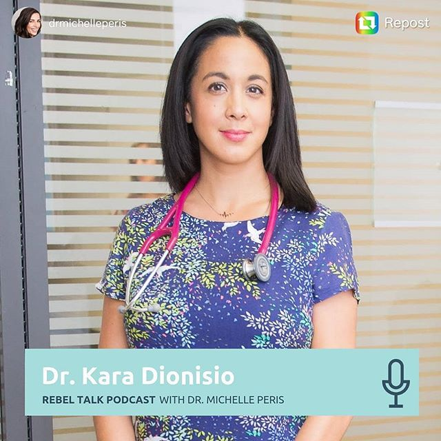 """A great conversation with a SPARK of a woman @drmichelleperis about the SCIENCE of SEX. All my favorite """"S"""" words in one conversation! Hope you enjoy it.  You can listen in on iTunes, Spotify Google Play, Stitcher etc...links in bio. ----- Repost @drmichelleperis Today we talk about SEX! ⠀ ⠀ Dr. Kara Dionisio, naturopathic doctor and clinical director of Health Squad. She is on a mission to elevate medicine by adding 'health' to healthcare through empowerment, collaboration and logic. Dr. Kara is joining Michelle to talk about sex, and more specifically about women sexual vitality.⠀ ⠀ Sexual education, while taught in schools, tends to be limited to anatomy and diseases, but Dr. Kara is bringing joy and science together to give the best explanation about sexual matters you have ever heard so far, including interesting topics such as:⠀ ⠀ ●  Definition of sexual wellbeing⠀ ●  Sexual dysfunction categories⠀ ●  Medication that can cause sexual side effects⠀ ●  Pelvic floor health⠀ ●  Hormones involved in sex⠀ ●  Difference between sexual desire and arousal⠀ ●  Types of sexual desire⠀ ●  Sexual excitement⠀ ●  How to improve your sexual health⠀ ●  Optimal frequency for sexual intercourse⠀ ⠀ … among other subjects! ⠀ ⠀ Don't miss this amazing episode and be inspired to connect with your unique and divine femininity as a whole. ⠀ ⠀ No taboos, no limitations, no embarrassment, a talk among women about women's needs and desires.⠀ ⠀ Just in time for Valentine's Day... You're Welcome! 😉⠀ ⠀ LINK: https://itunes.apple.com/ca/podcast/rebel-talk/id1438194737?mt=2&i=1000429691570 ⠀ #therebelpodcast #rebeltalk #rebeltribe #stress #sex #passion #sexualvitality #women #femininepower  #thyroid #women  #antidepressant #birthcontrol  #sideeffects #noexpectations #justplay #sleep #statistics #orgasm #drmichelleperis"""
