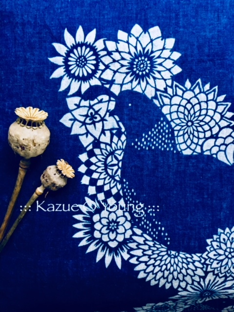QUAIL made from Katazome & Indigo.