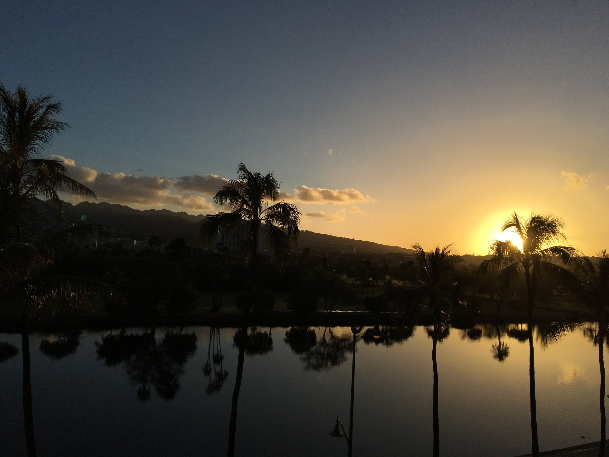 Sun Rise in Oahu, Hawaii