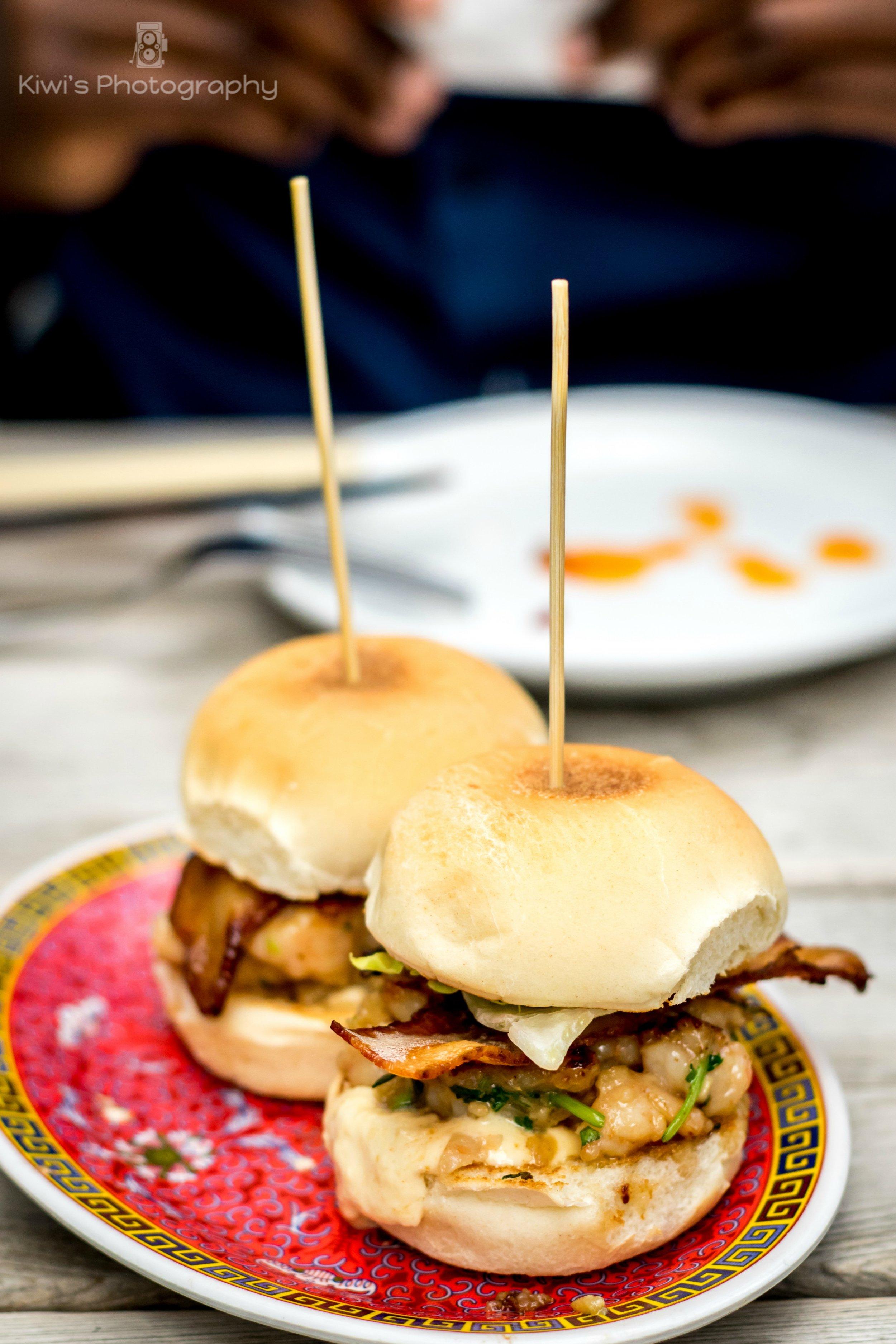 Datsun Ottawa - Shrimp Burgers with Bacon, Lettuce, Tasty Sauce & Toastie Bun