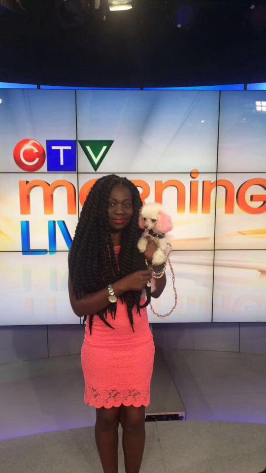 Florence & Peanut at the CTV Morning Live Fashion Show for Pucci Parlour - Photo Courtesy of Florence.