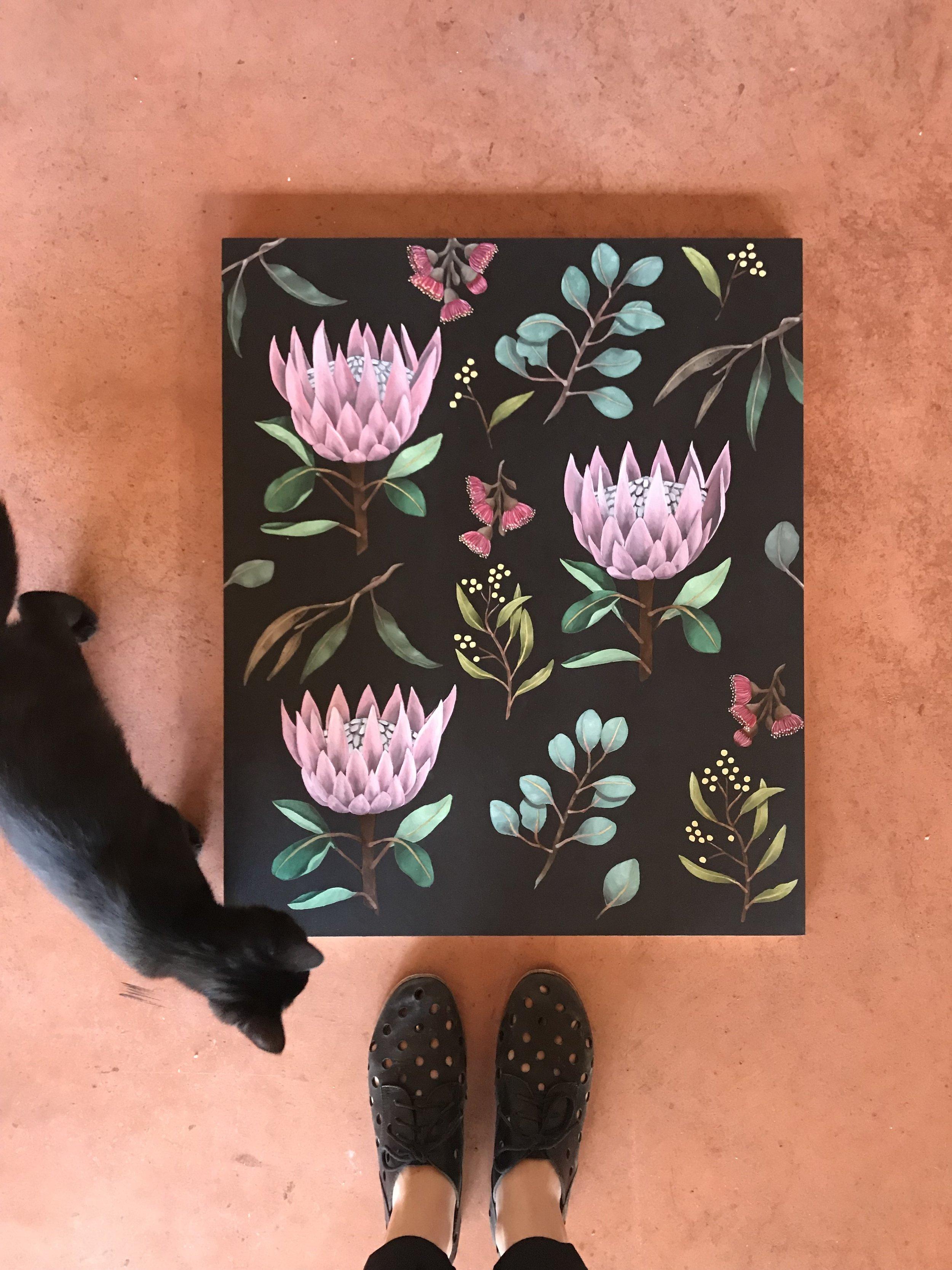 King Protea Botanical Spatter