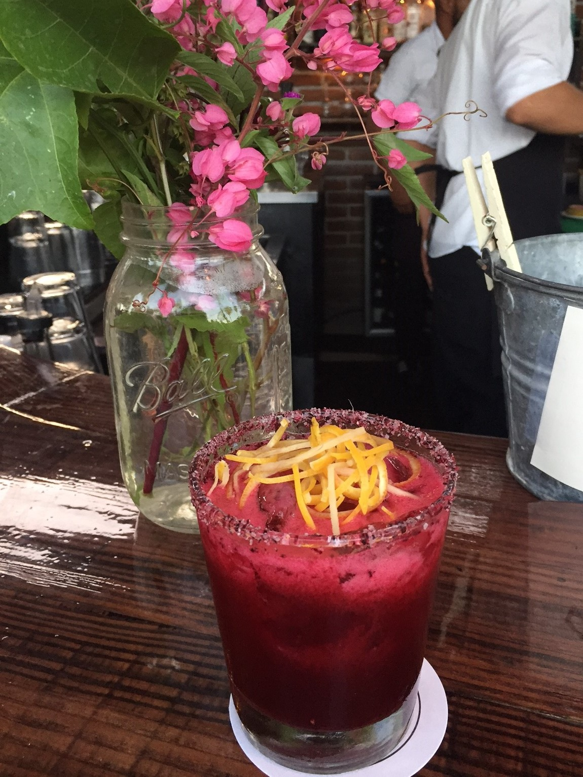 Couldn't resist these yummy hibiscus margaritas