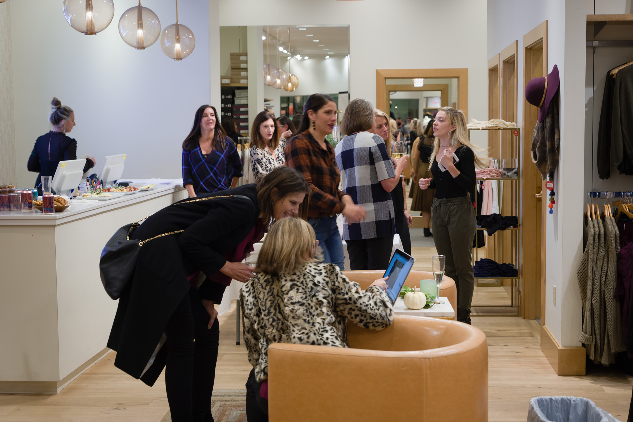 Everyone was buzzing around the beautiful store getting ready for the new year!Photo by  Folrev Photography