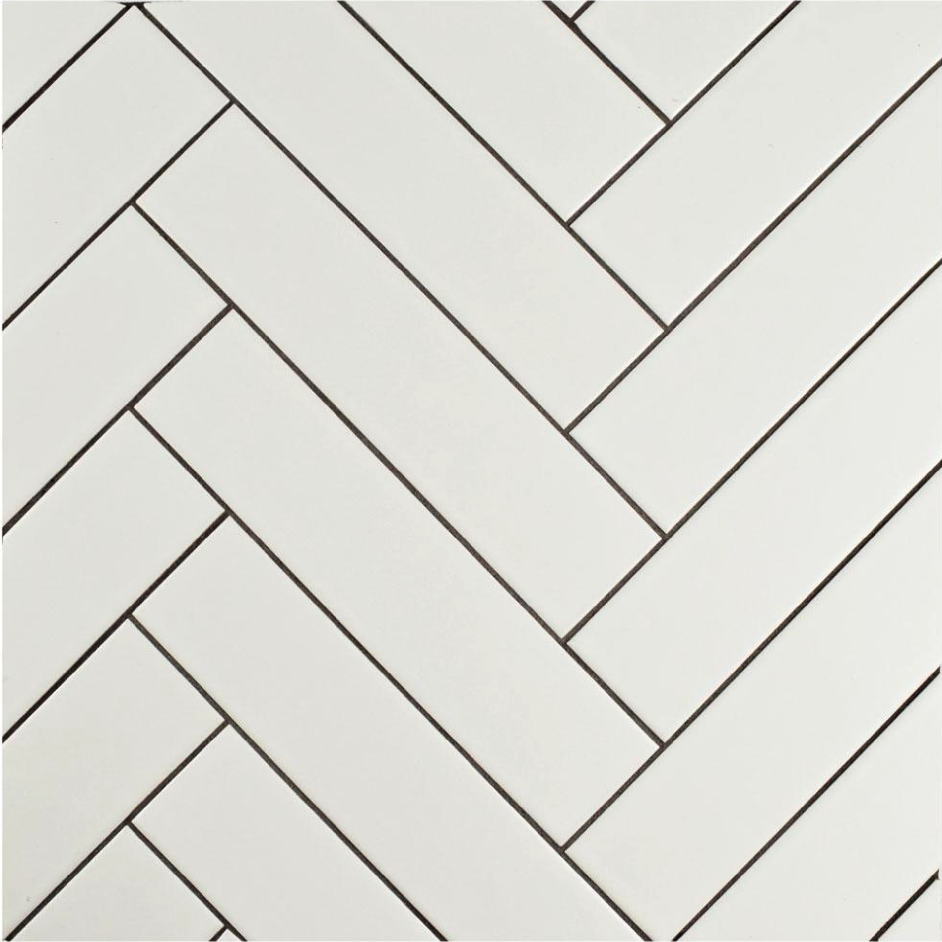8. Tile - White ceramic tile 1.75 x 7.75 inch from Home Depot
