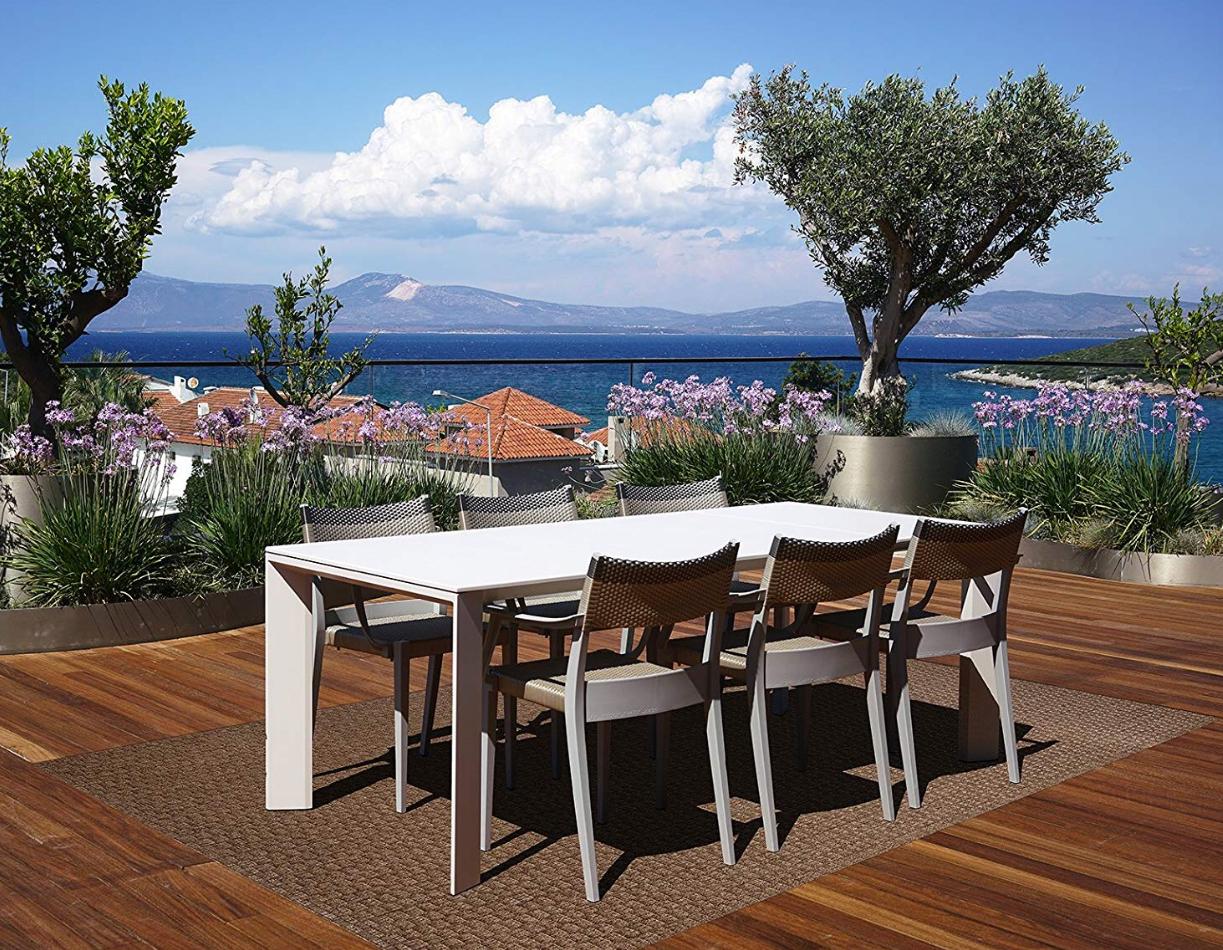 Platinum Barnell Outdoor Rug - by Gertmenian at Amazon.com