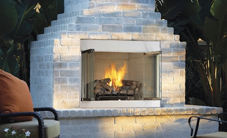 Outdoor Fireplace - by Odyssey at Astria Fireplaces