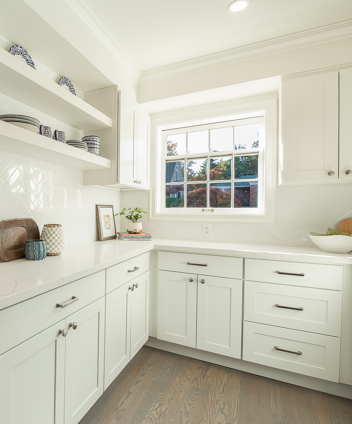 5. Cabinets - Shaker White Cabinets from GS Building Supply