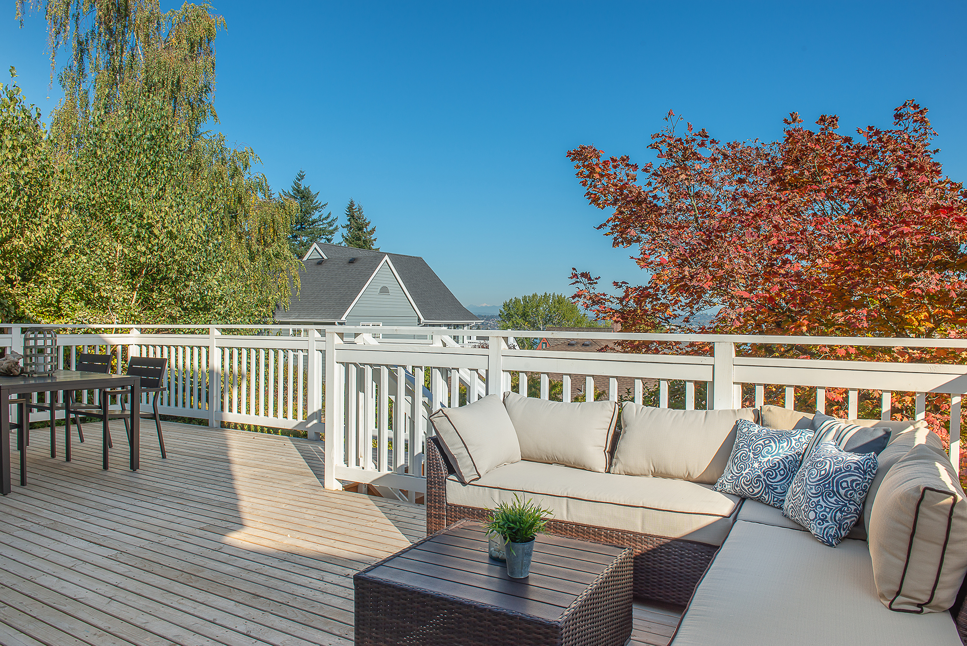 The views are stunning from this new deck