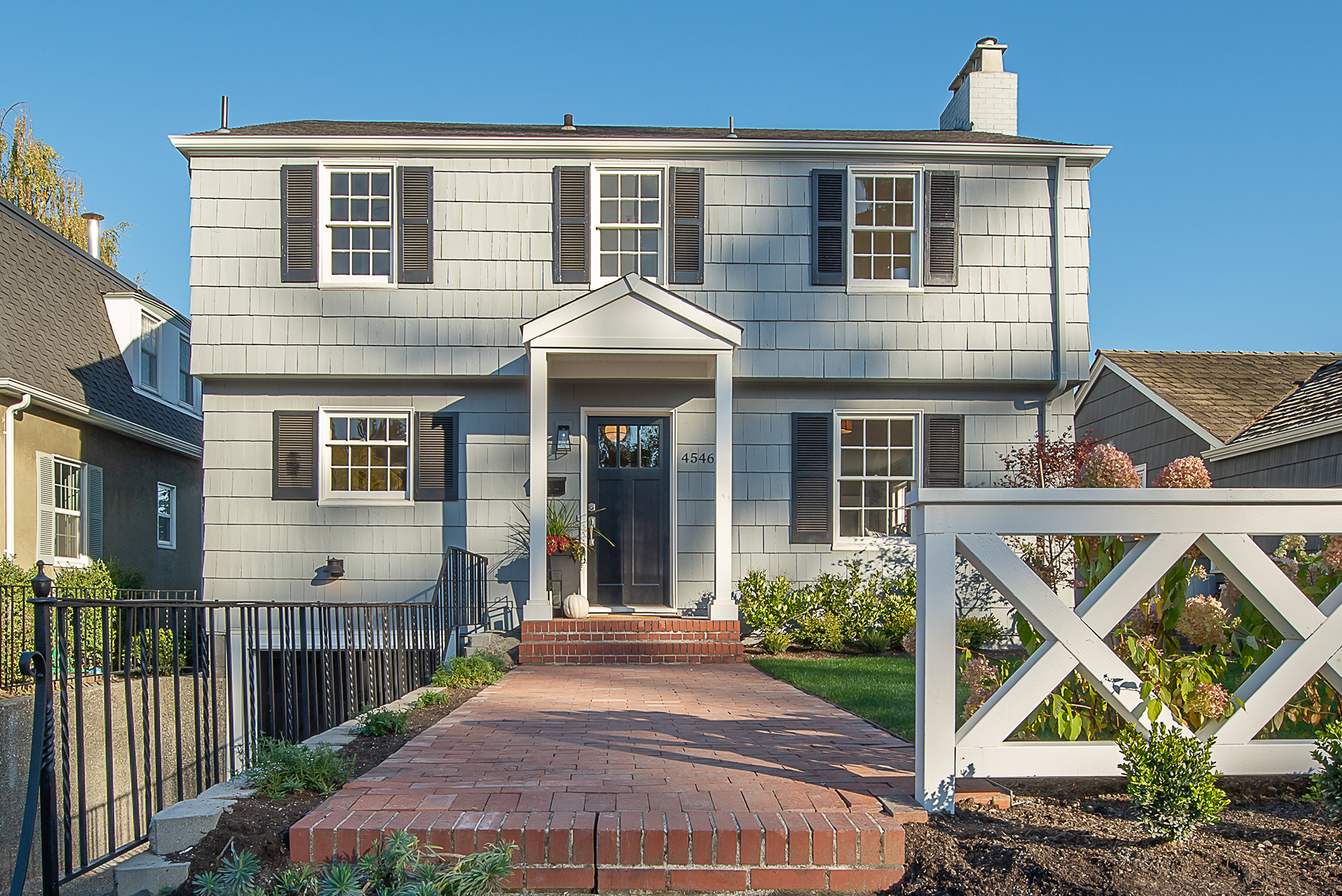The new owners will truly have a one-of-a-kind Tudor with the addition of our custom-made fence.
