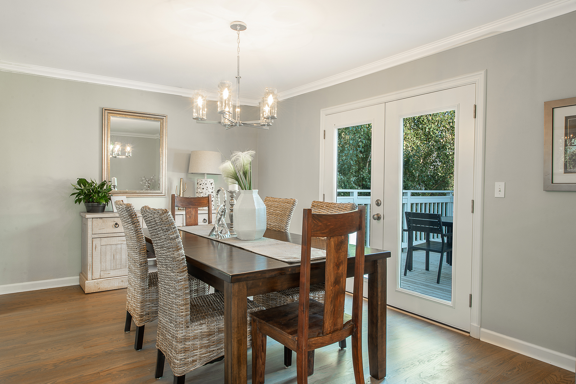 These doors are great for outdoor dining access.