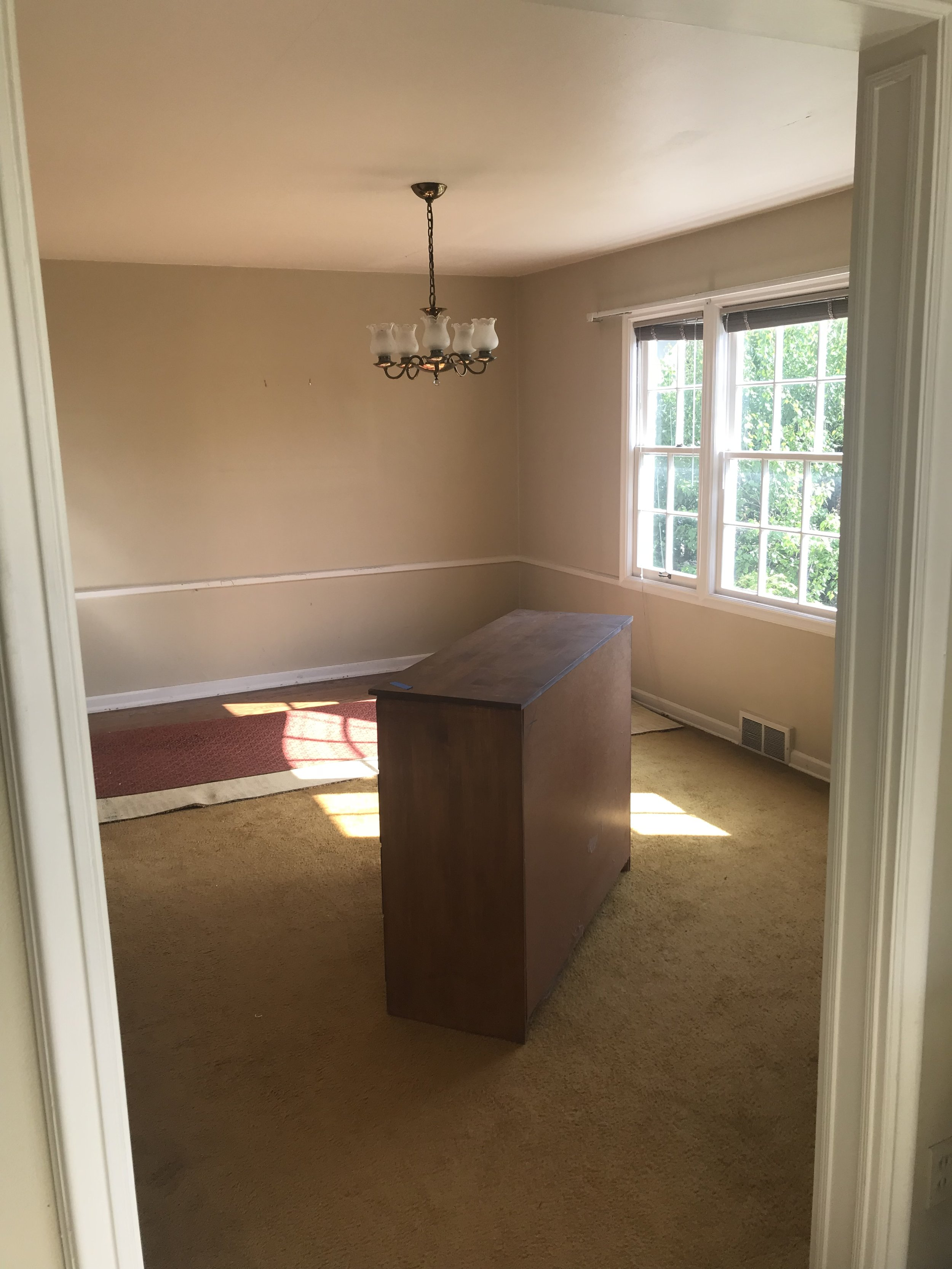 Copy of The dining room was a good size so we took advantage and added some great features for an outdoor entrance.